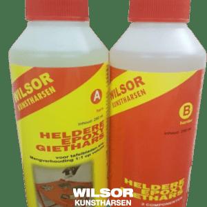 Heldere epoxy giethars