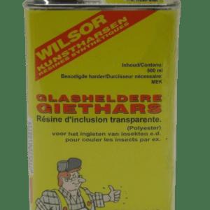 Glasheldere polyester giethars
